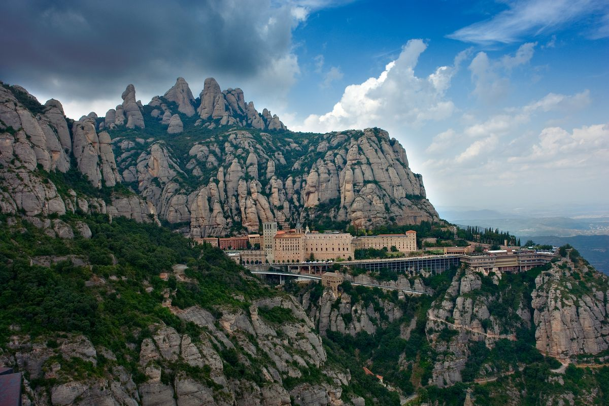 Montserrat Monastery and mountain