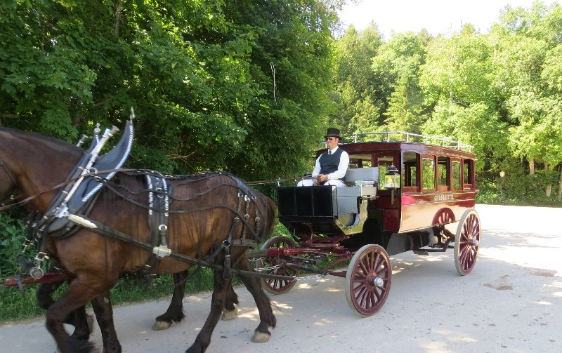Our carriage driver dressed in period clothing on Mackinac Island