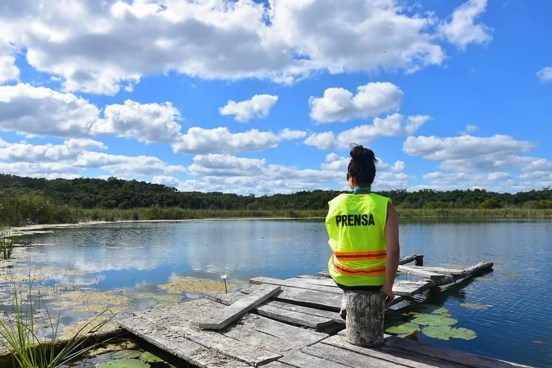 Coba Maya Park lagoon is a natural refuge