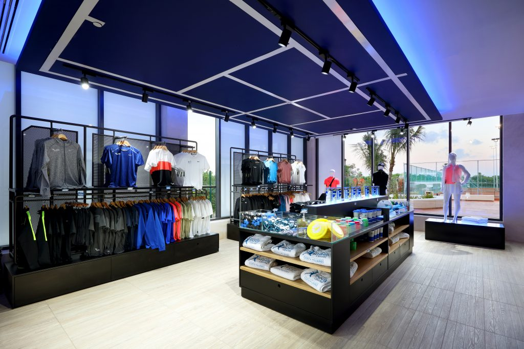 The Tennis Shop at Rafa Nadal Tennis Centre carries name-brand items and Nadal Logos
