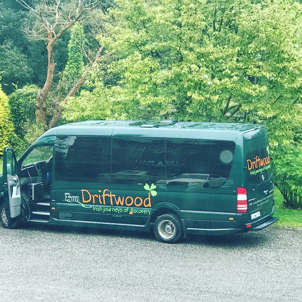Our Driftwood tour vehicle waiting for us to board