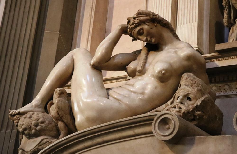 Michelangelo's sculptures in the Medici Chapels