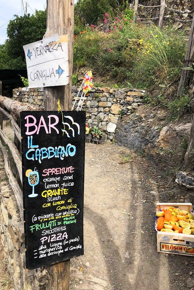 Lemonade Bar along the Cinque Terre Trail above Vernazza