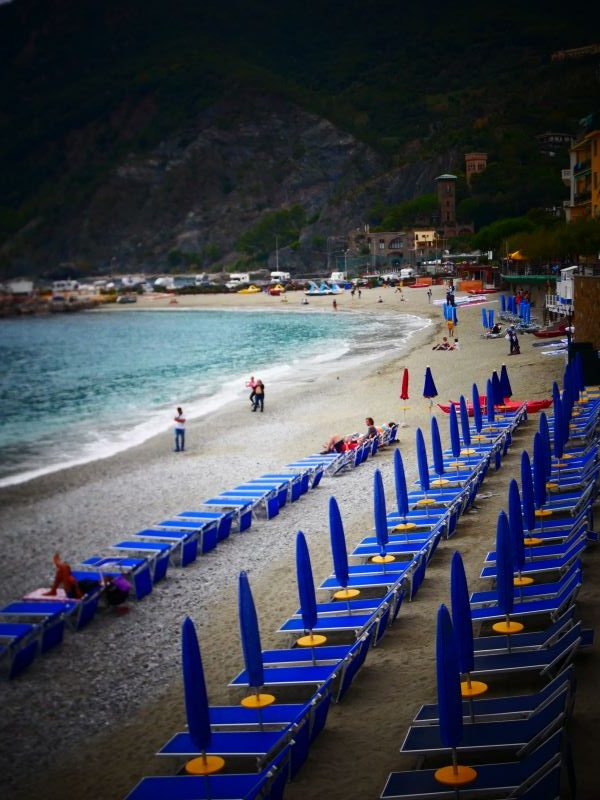 Picturesque beaches are tucked into coves that line the Cinque Terre.