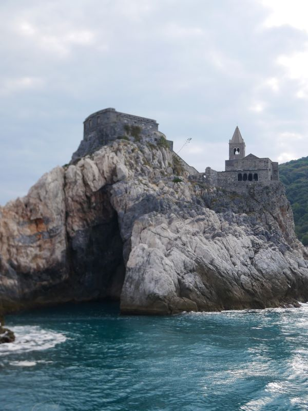 View the village of Porto Venere from the ferry en route to Cinque Terre.