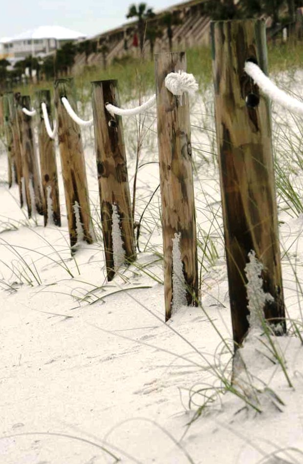 The white sands along the Alabama Gulf Coast