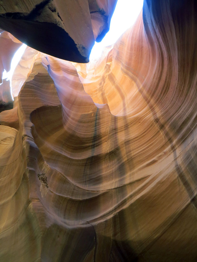 Beauty in a wall of sandstone at Antelope Canyon