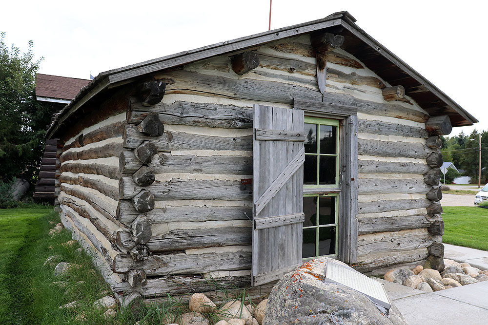 Liver-Eatin' Johnson's original cabin, located in Red Lodge, Montana