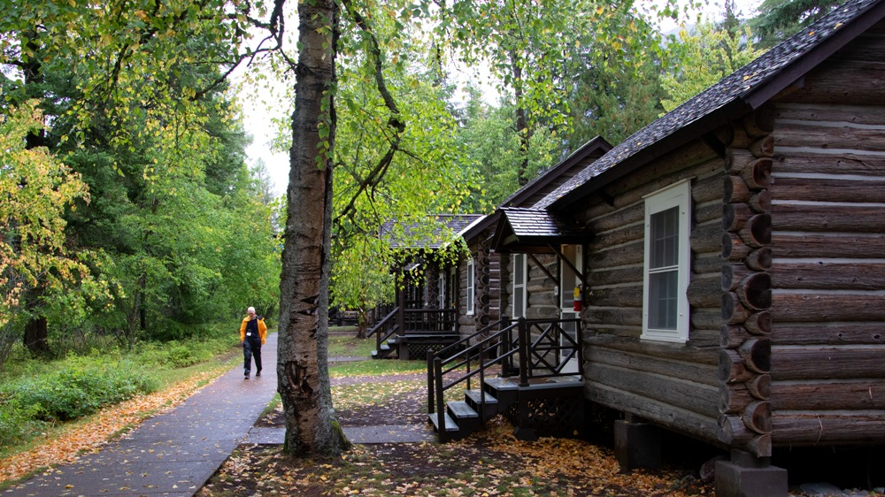 Lake McDonald Cabins are rustic and charming