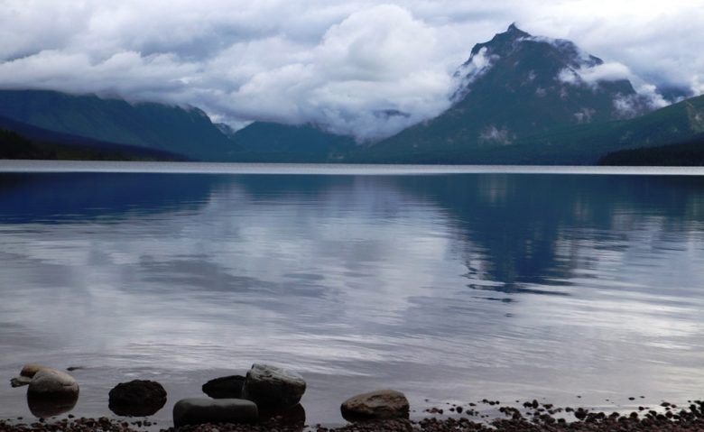 Glacier National Park's Lake McDonald Offers Serenity at Dusk