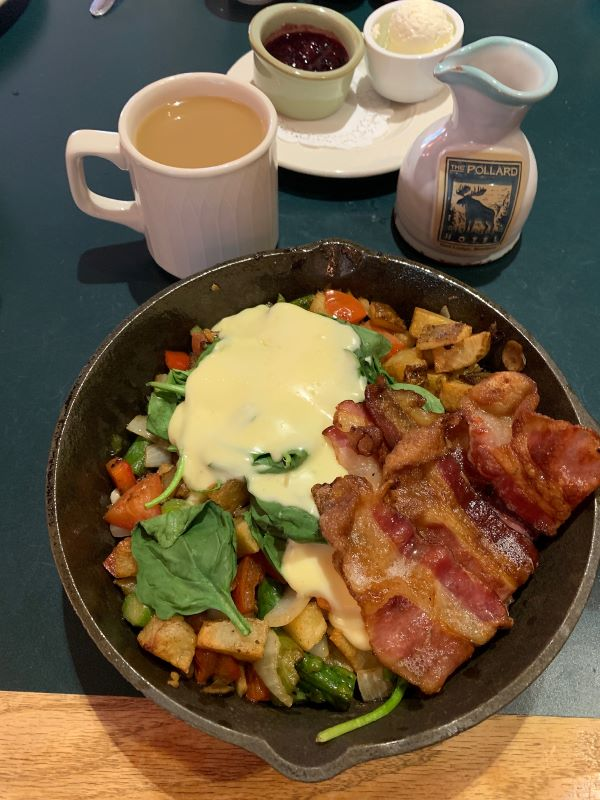 The restaurant provided me with a special skillet breakfast due to an allergy.