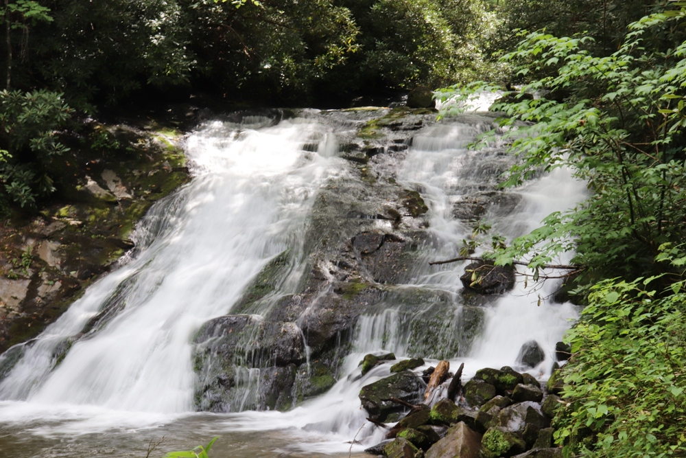 Waterfalls on the Deep Creek trail in Smoky Mountain National Park