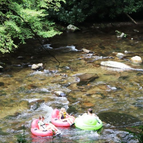 Tubing in Deep Creek, Smoky Mountains National Park