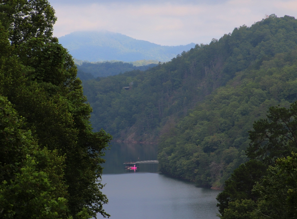 View of Lake Fontana from the villas at Lakeview at Fontana in Bryson City, N.C.