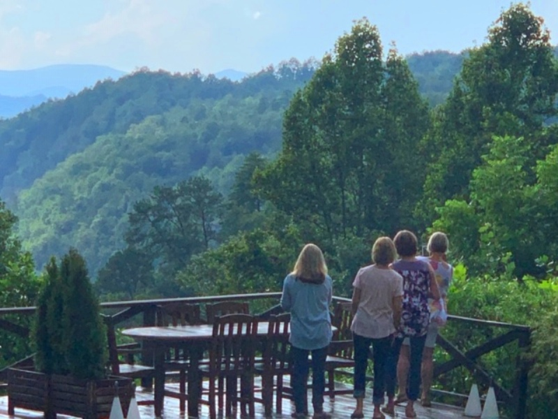 Evening overlooking Lake Fontana from the villas at Lakeview at Fontana in Bryson City, N.C.