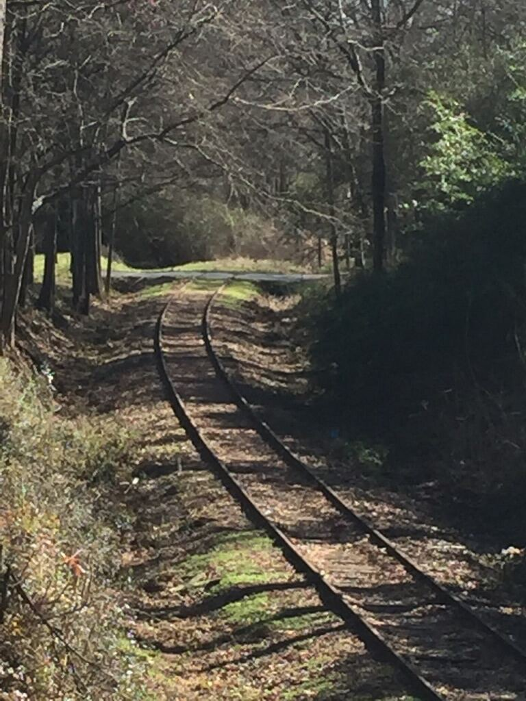 Small Georgia towns railroad tracks