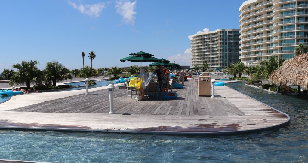 The Caribe Resort in Orange Beach, Alabama has a rooftop lazy river