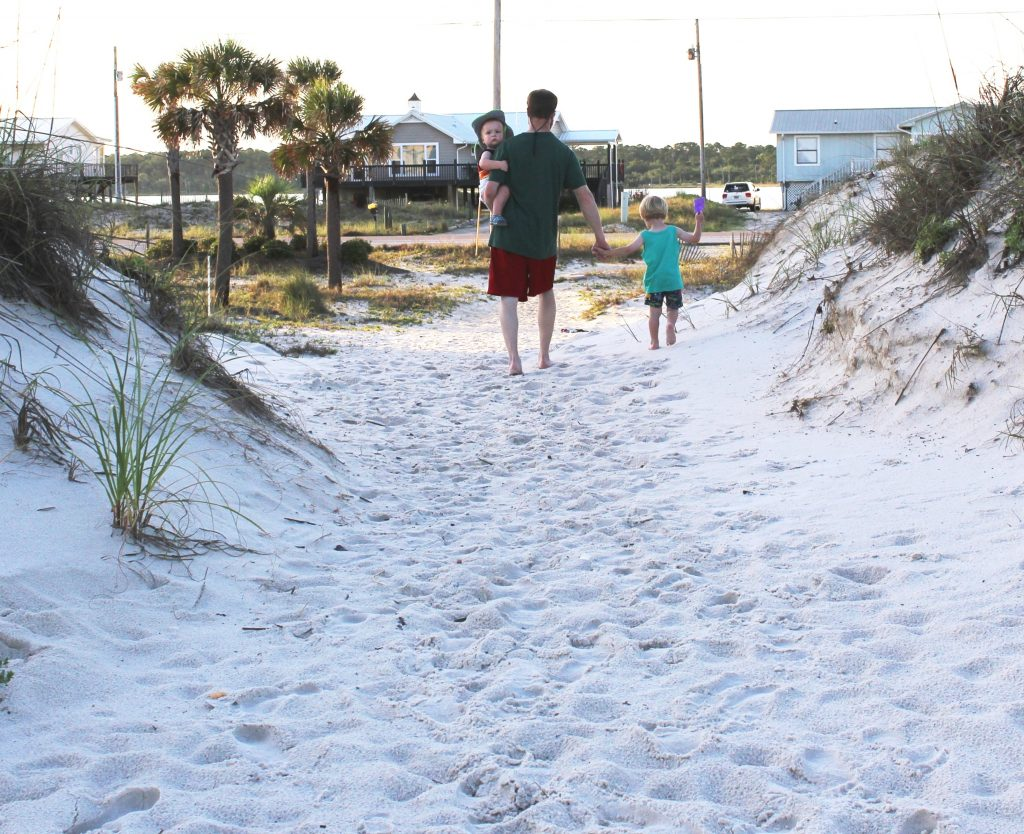Beach houses are good lodging options for families in Alabama's Gulf Shores