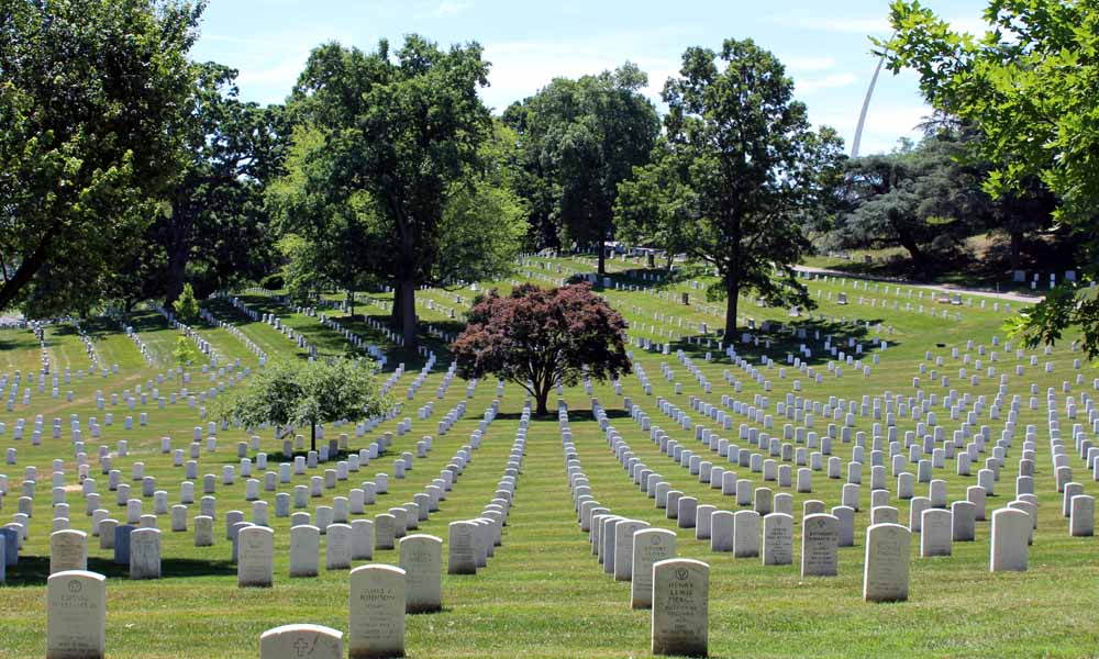 400,000 are buried in Arlington National Cemetery