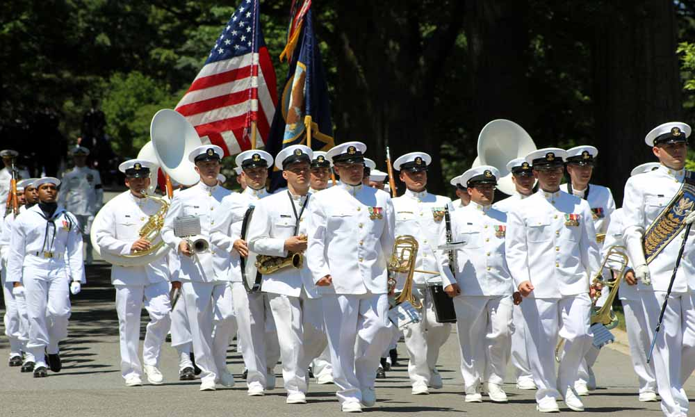 Honor Guard in a Navy Funeral Procession