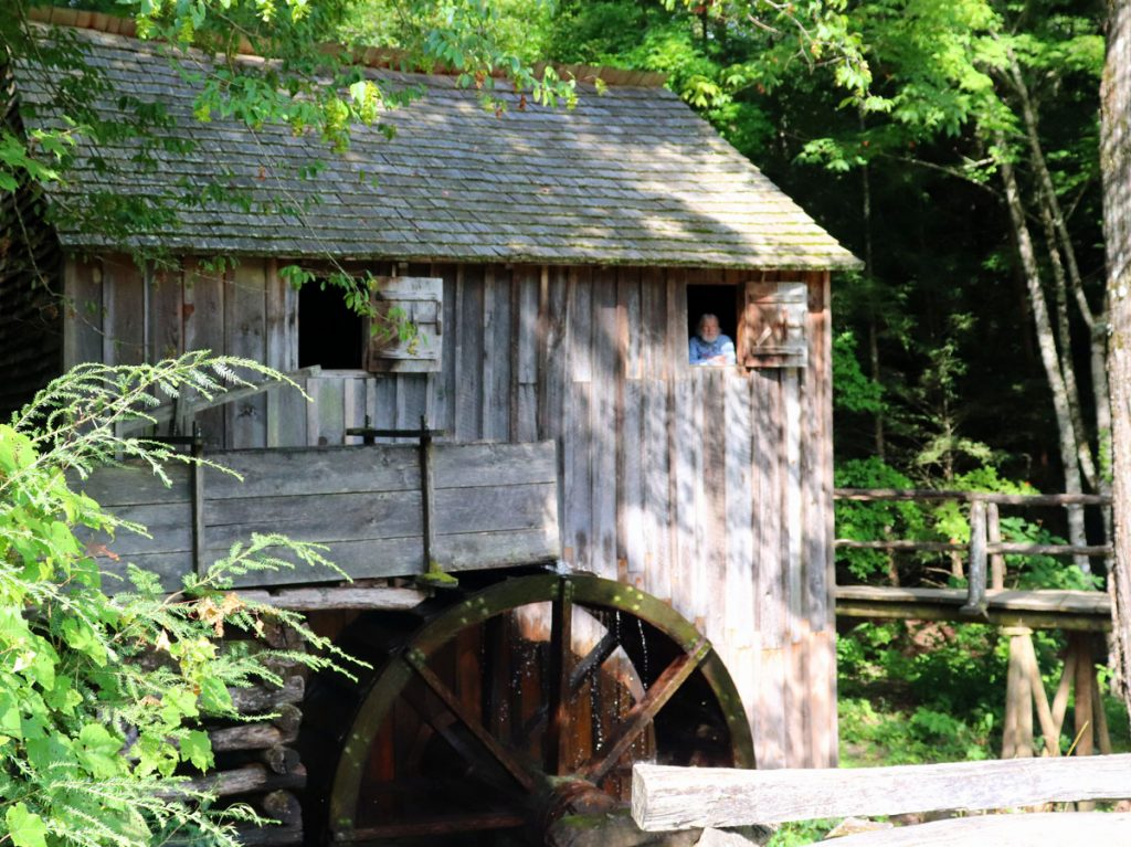 The Cable Grist Mill in Cades Cove is at the half-way point of the Loop Road, Smoky Mountains