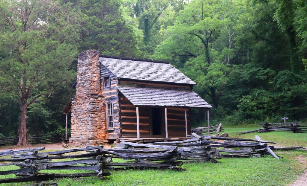 Elijah Oliver Cabin in Cades Cove was built in the 1800s, Smoky Mounains