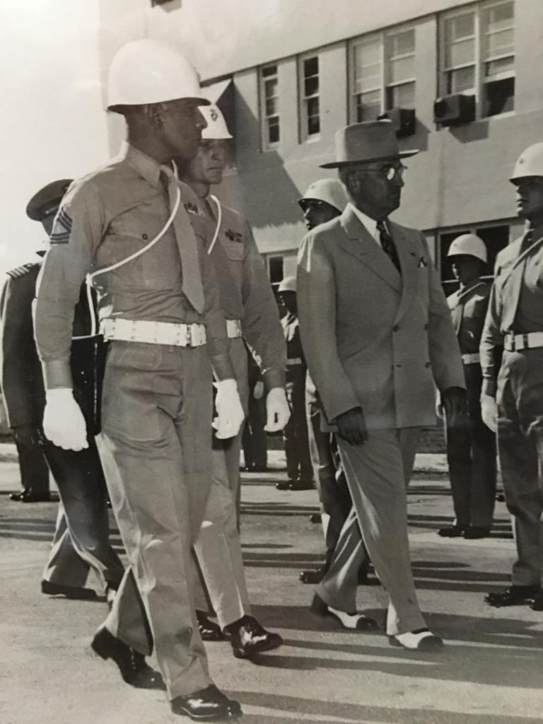 Sgt. Major Rodriguez is military escort to President Truman