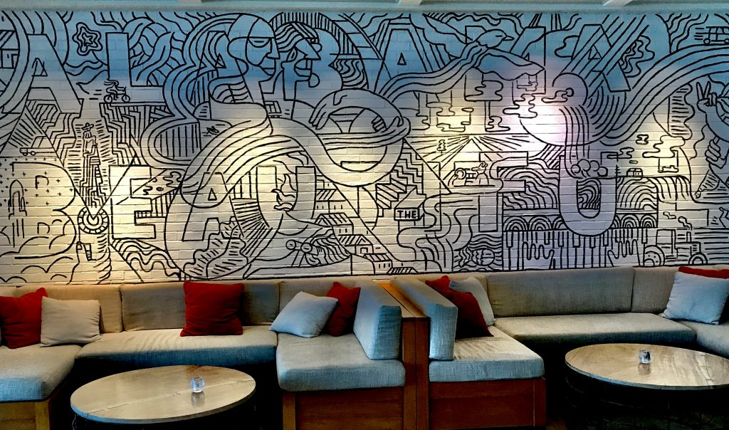 mural at the lodge