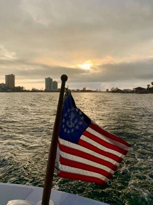 A Sunset Cruise in Orange Beach is beautiful in any type weather