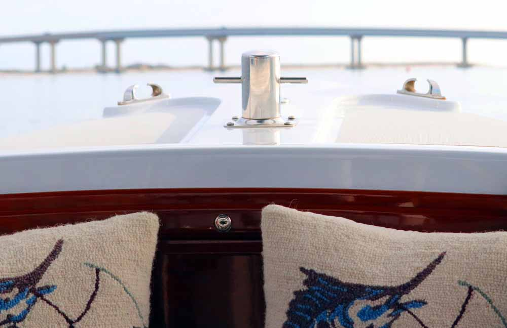 The ride is smooth and relaxing in a Duffy electric boat