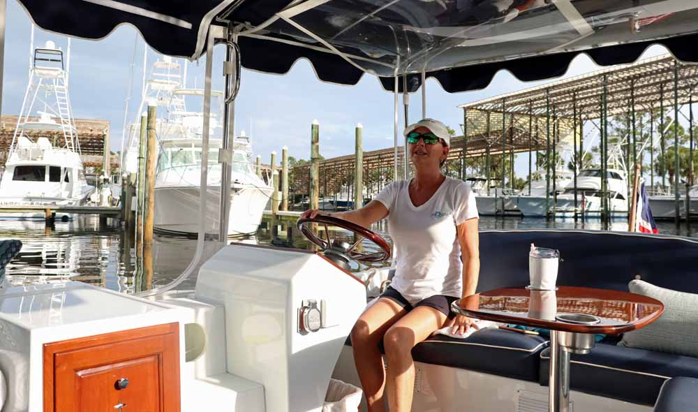 Captain DD Russo pilots the Anonyme II in Orange Beach