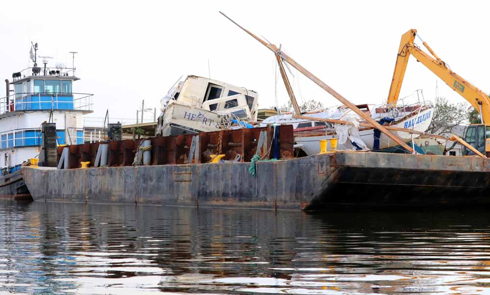 Salvage companies have most of approximately 572 vessels cleared from the water in Orange Beach after Hurricane Sally